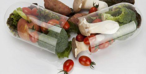 top view vegetable capsule